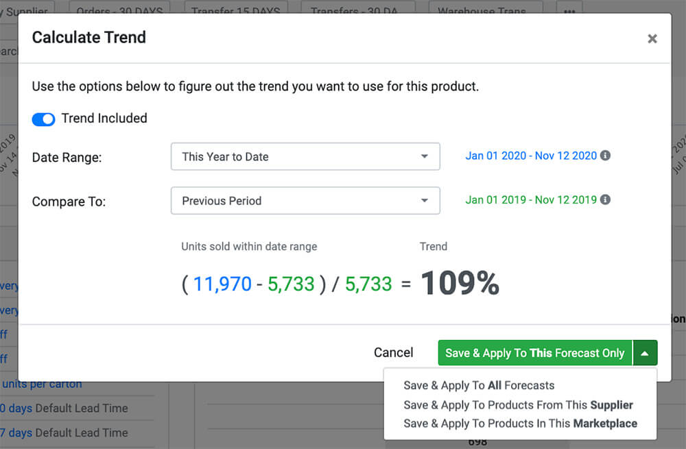 Calculating Trend SoStocked Software Review