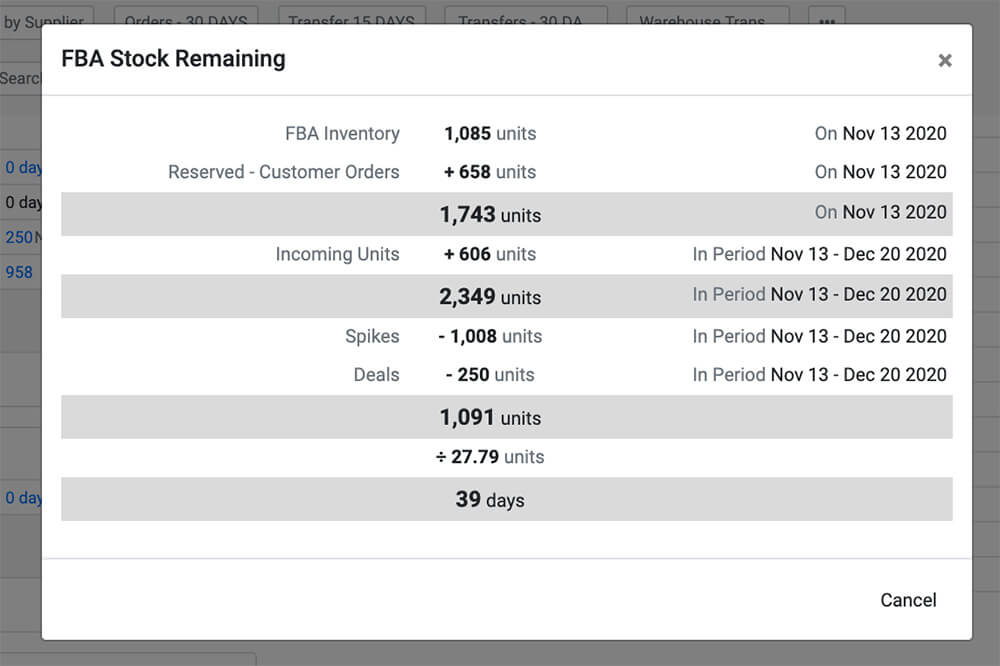 FBA Stock Remaining SoStocked Review