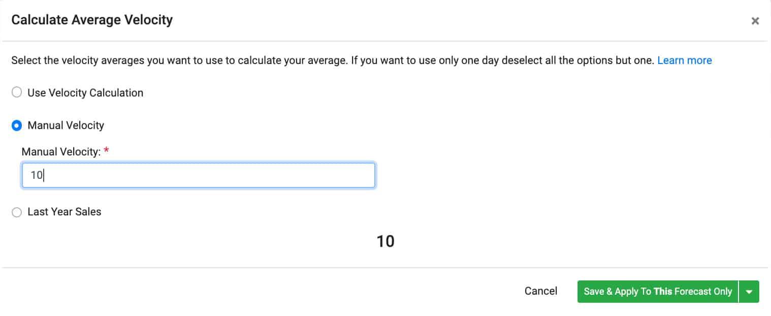 Calculate Average Velocity Automate Amazon Inventory Forecasting