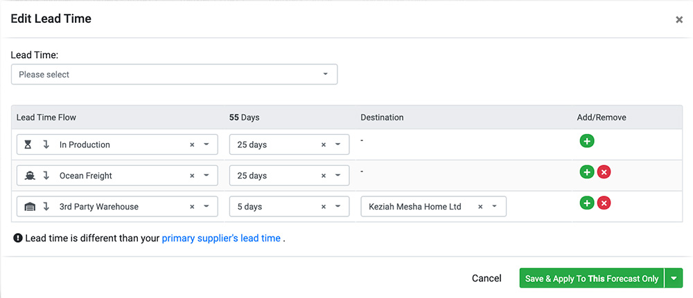 Edit Lead Time Automate Amazon Inventory Forecasting